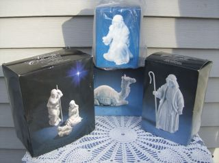 Avon Collectibles NATIVITY FIGURINES Holy Family Inn Keeper Shepard