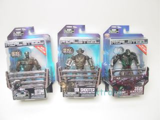 Real Steel Wave 2/ Set of 3 FIGURES/ SIX SHOOTER! ATOM! ZEUS! series 2