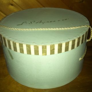 Hat Box With Hats, L.S. Ayres And Co. With Three Original Vintage Hats