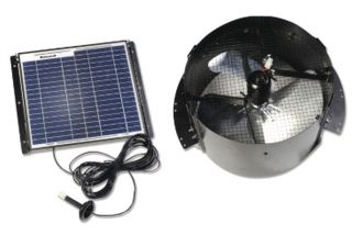 Gable Mount Solar Powered Attic Fan Ventilator Roof Vents 1 250 Sq Ft