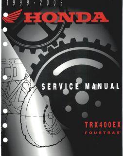 1999 2002 Honda ATV TRX400EX Service Manual