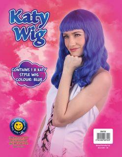 KATY PERRY WIG   CALIFORNIA GURLS GIRLS   BLUE / BLACK   LADIES FANCY