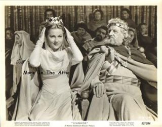 Joan Fontaine Finlay Currie Orig MGM Ivanhoe Still 2