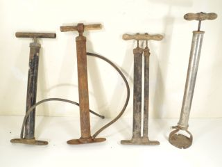 Vintage hand air pump Lot Bicycle automotive truck car Jeep 1937 1938