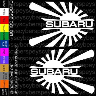 Subaru Rising Sun Stickers Car Vinyl Decals JDM