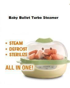 Baby Bullet Food and Bottle Turbo Steamer Steam Defrost and Sterilize