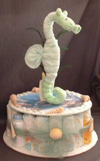 Ocean Seahorse Diaper Cake Baby Shower Gift