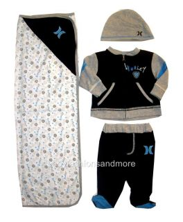 Baby Boys Hurley Set Clothes Lot Outfit with Blanket
