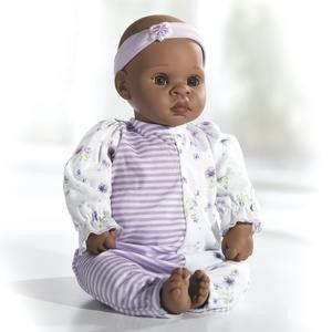 Lee Middleton Little Keydon Dark Skin Tone Vinyl Baby Girl Doll