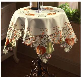 Autumn Harvest Diecut Decorative Table Linens Square Home Decor Accent