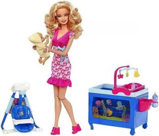 Barbie I Can Be Baby Caregiver Playset Doll Mattel Babysitter Sitter