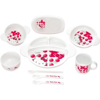 Hello Kitty Baby Tableware Gift Set Cup Bowl Mug Dish Ware Made in