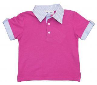 Girl Purple Tee Polo Shirt Boys Girls by Baby Graziella 2T