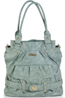 Timi Leslie Faux Leather Baby Diaper Bag Tote Louise Cloud Blue TL 225