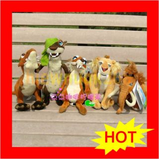 Mammoth Peach Ellie Manny Diego Sid Scrat Plush Ice Age