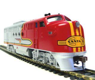 HO Scale Model Railroad Trains Layout Bachmann Santa FE ft A DC
