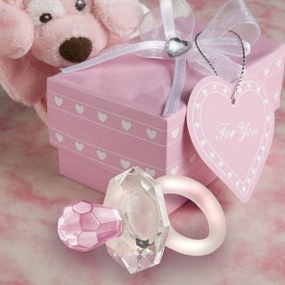 Baby Shower Favors Crystal Pink Pacifier Baby Girl Shower Favors Gifts