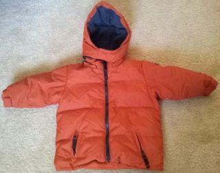 Baby GAP Winter Down Coat Jacket 18 24 Months Toddler Infant Orange