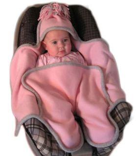 Cuddlebabe Newborn Baby Infant Girls Fleece Cover Car Seat Wrap