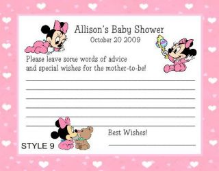 baby minnie mouse baby shower game pack 1