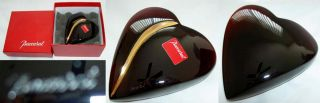 Baccarat Ruby Red 18K Puff Heart of Passion Crystal Paperweight