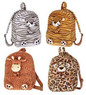 Plush Animal Giraffe Tiger Travel Kids Backpack Bag Toy