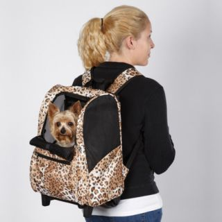 Casual Canine Animal Print Backpack Dog Pet Carrier
