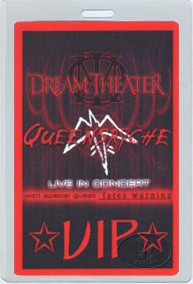 Unused VIP laminated backstage pass for the DREAM THEATER