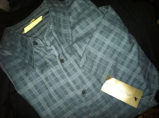 Mens AXIST SS Casual Cotton Plaid Shirt XXL NWT