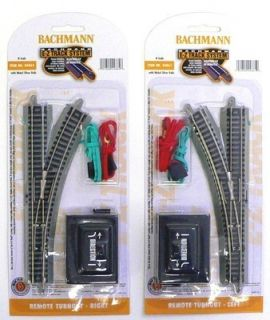 SCALE MODEL RAILROAD TRAINS LAYOUT BACHMANN EZ TRACK LEFT RIGHT