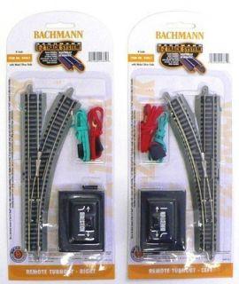 SCALE MODEL RAILROAD TRAINS LAYOUT BACHMANN EZ TRACK LEFT RIGHT