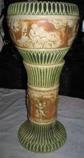Roseville Donatello Angel Cherub Jardinere Pedestal