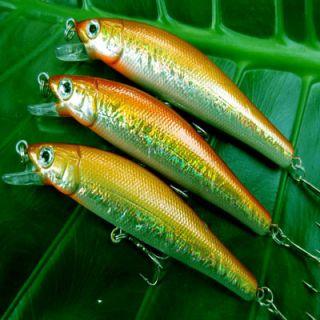 3Pcs Medium Running Crankbait Fishing Lures Bait Tackle Hooks H3