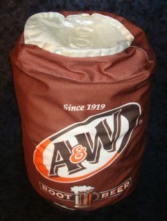 ROOT BEER Plush PILLOW Soda Can Brown LOGO Advertising Bean Bag