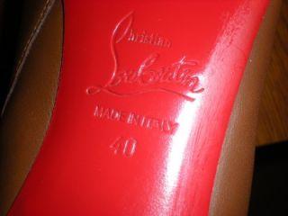 CHRISTIAN LOUBOUTIN Babel 85 Calf Carezza Brown Knee High Boots
