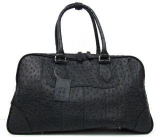 100 Genuine Ostrich Leather Handbag Clothing Bag Black New