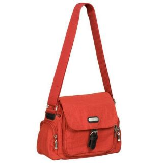 BAGGALLINI Around Town Bagg Shoulder Crossbody Bag Purse TOMATO RED