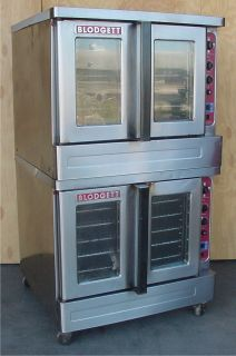 DOUBLE STACK NATURAL GAS COMMERCIAL BAKING BAKERY CONVECTION OVEN