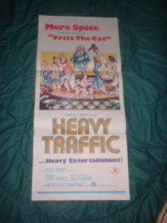 1973 ralph bakshi heavy traffic animated film poster