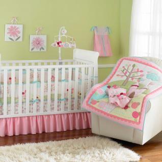 Colorful Floral Princess Castle Garden Baby Girl Crib Bedding Set
