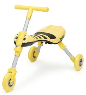 Quicksmart Scuttle Bug 3 Wheel Toddler Ride on Bumble Bee or Lady Bug