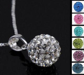 Shamballa Crystal Swarovski Disco Ball Necklace Pendant Chain
