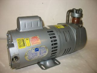 Gast Vacuum Pump 0823 101Q G271X 1 2 HP 115 230 Filter