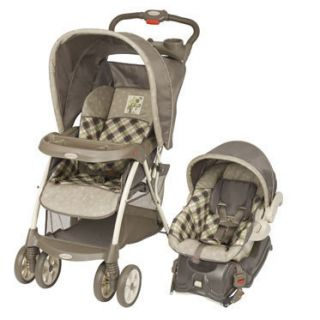 Baby Travel System Jungle Friends Stroller w Car Seat
