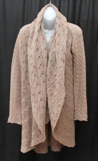 Autumn Cashmere Light Brown Cotton Knit Cardigan Sweater S