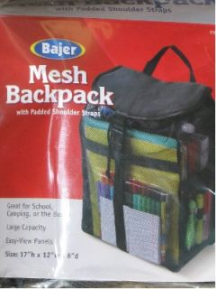Bajer Mesh Backpack School Camping Hiking Beach Bag