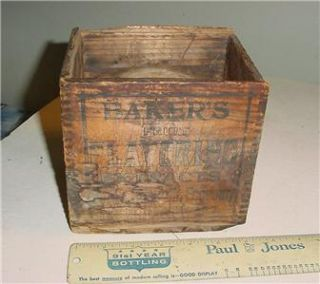 ANTIQUE BAKERS FRUIT EXTRACTS DOVE TAIL BOX PORTLAND MAINE ME.