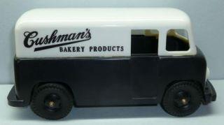 Cushmans Bakery Delivery Truck Bank Vintage Plastic Toy Van Lynn MA