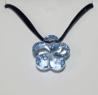 New Baccarat Flower Sky Blue Crystal Pendant Necklace