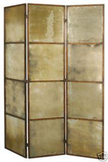 Ballard Designs 3 Panel Antiqued Mirror Room Divider
